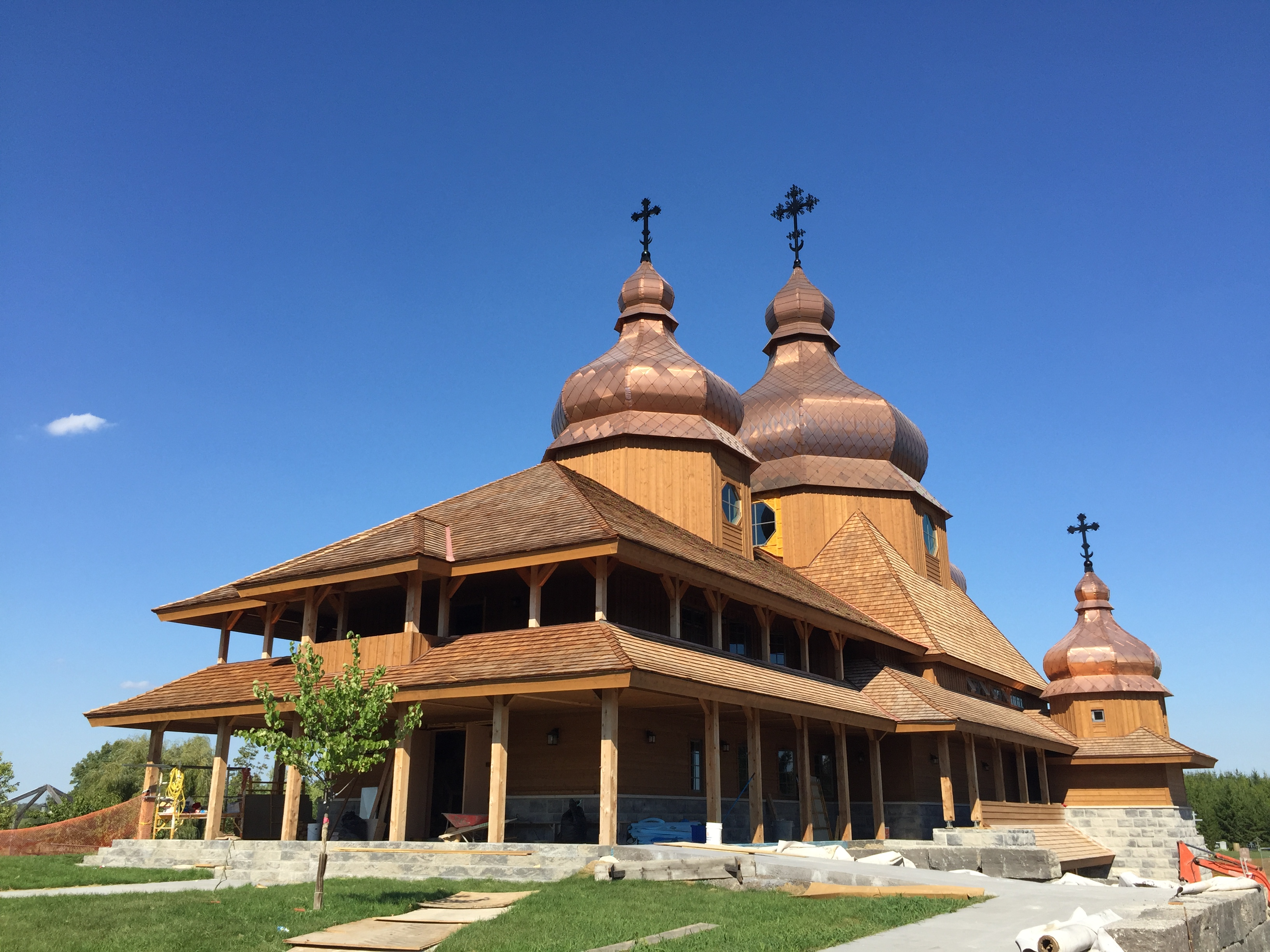 Copper Onion Domes On Church Fine Metal Roof Tech