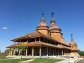 copper onion domes Greek Orthodox church