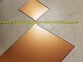 copper painted steel diamond shingles for wall small and large