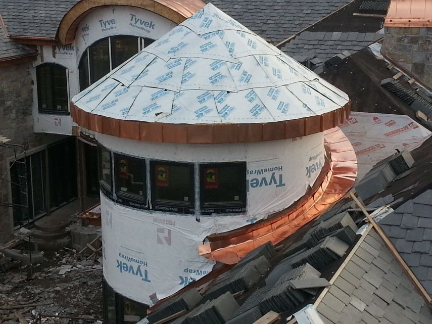 Copper Roof Turret Fine Metal Roof Tech