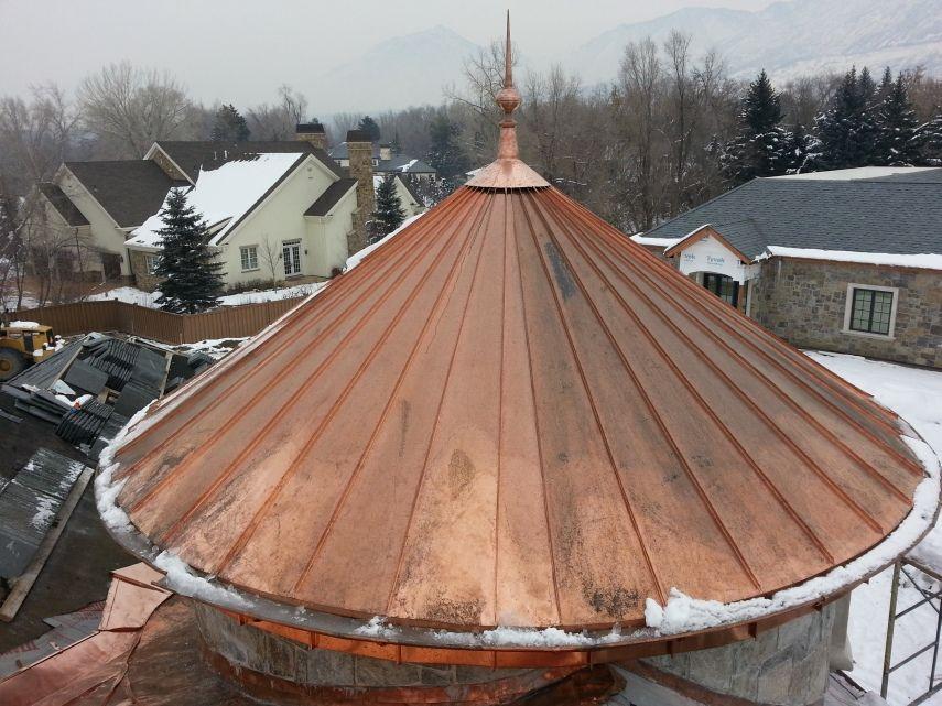 Copper Roof Turret Fine Metal Roof Tech
