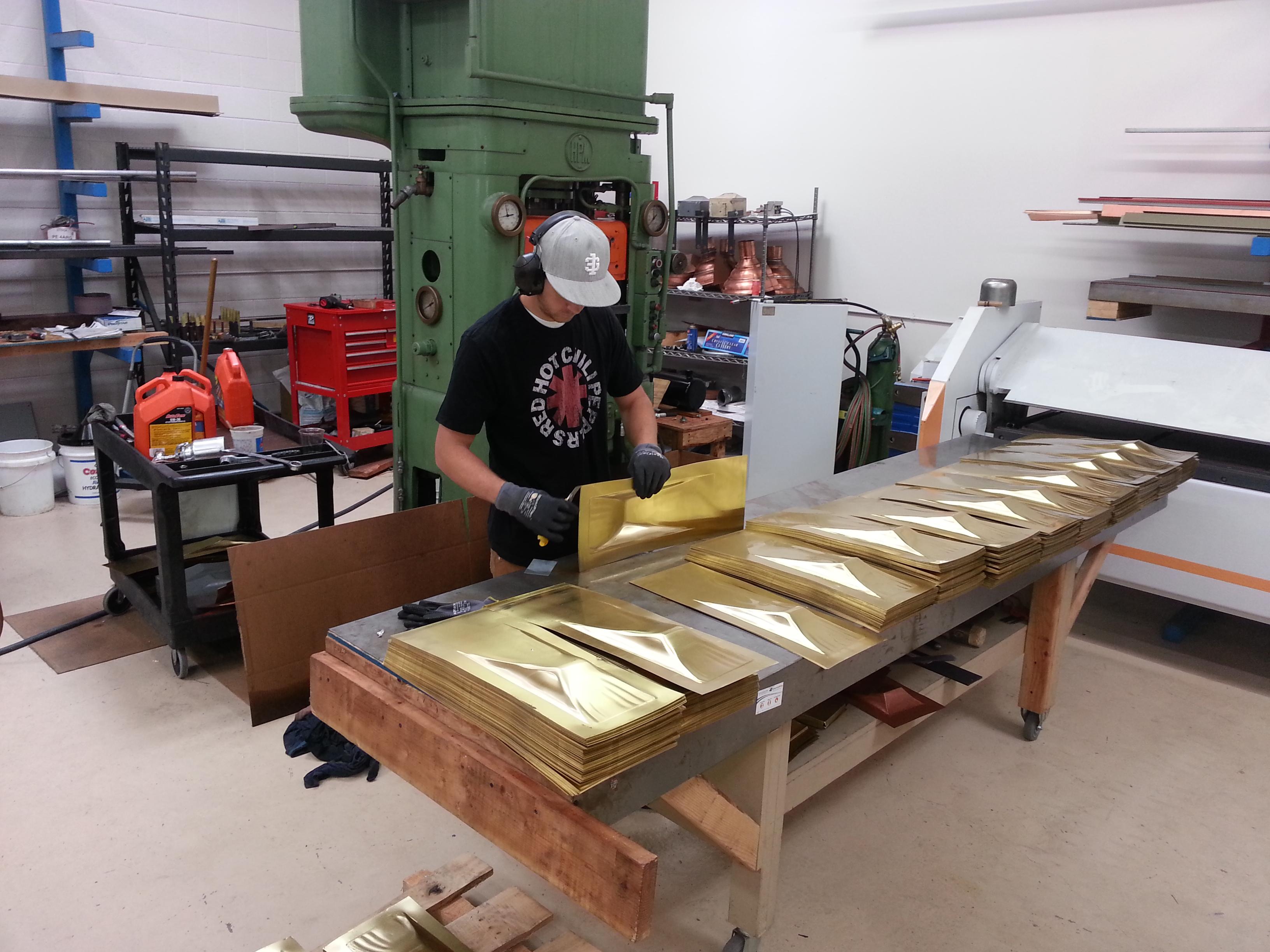 Making brass tiles