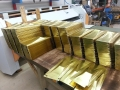 Custom brass shingles ready to ship