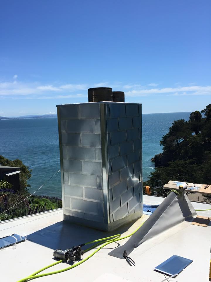 For Chimney Cladding Aluminium : Metal shingles for wall cladding fine roof tech