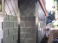 Corner details and flashngs zinc metal wall cladding
