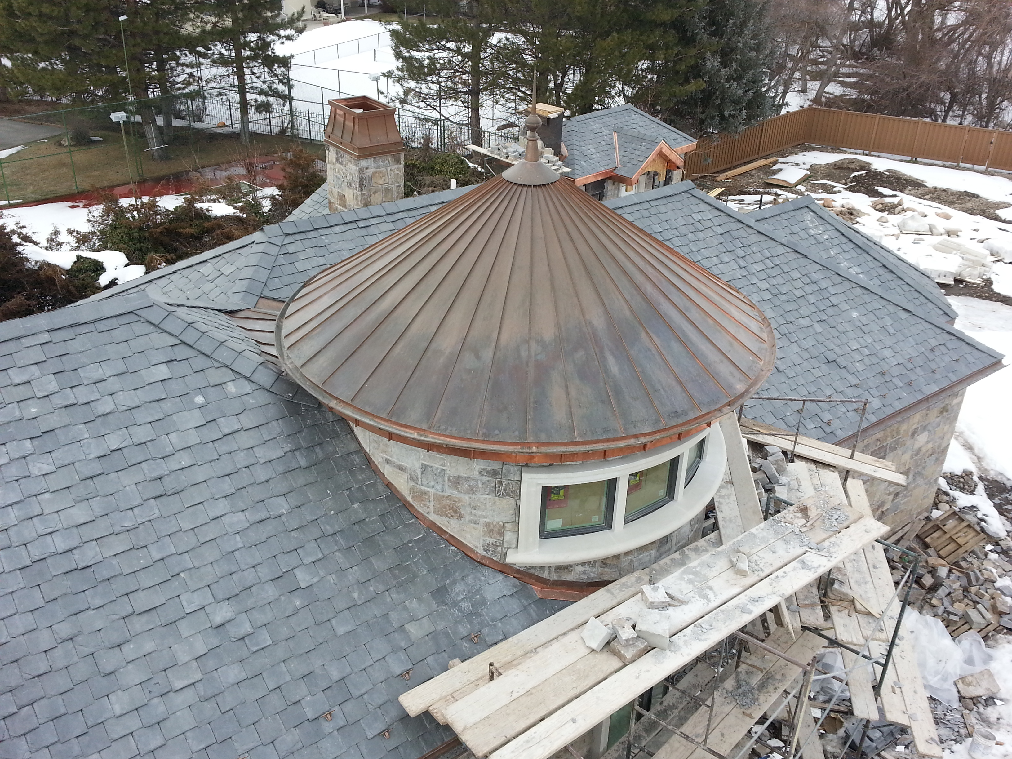 Custom Radius Gutter Fine Metal Roof Tech