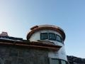 radius gutter on round roof