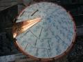 copper turret installation progress with round gutter