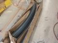 custom radius gutter in patina zinc