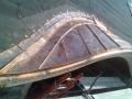 custom radius gutter for round dimensional roof