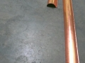 production of copper radius gutter for round roof