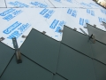 custom painted snow guards for metal shingle roof