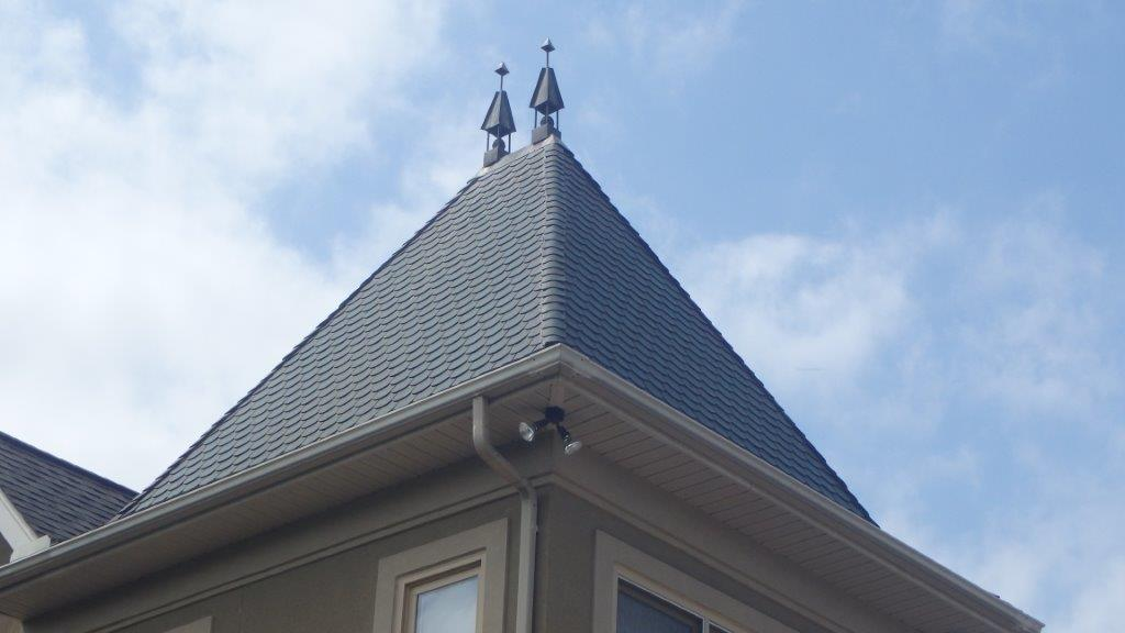 Pressed Metal Shingles And Panels For Roof And Wall