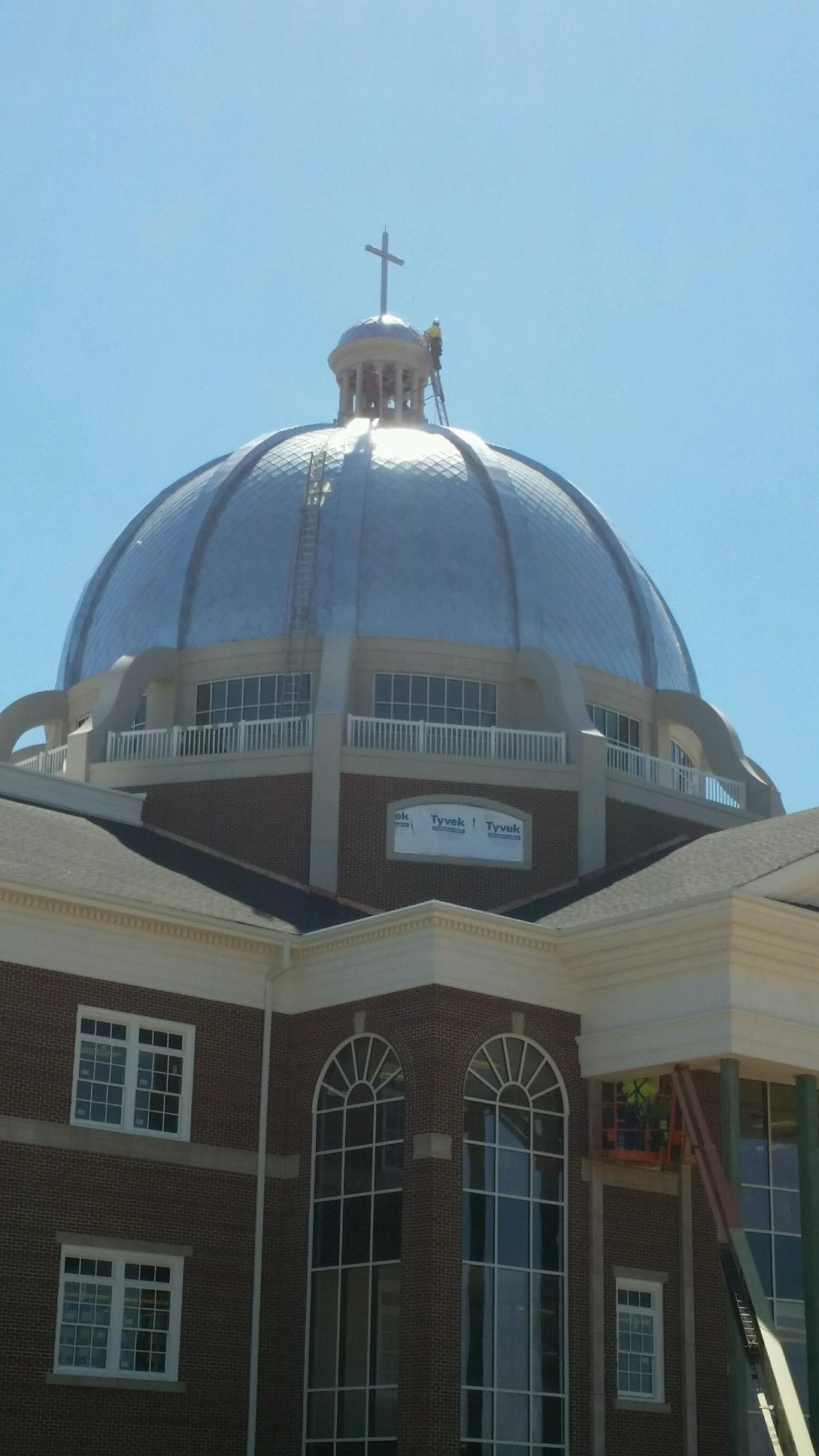 Terne Metal Shingles On A Dome Fine Metal Roof Tech