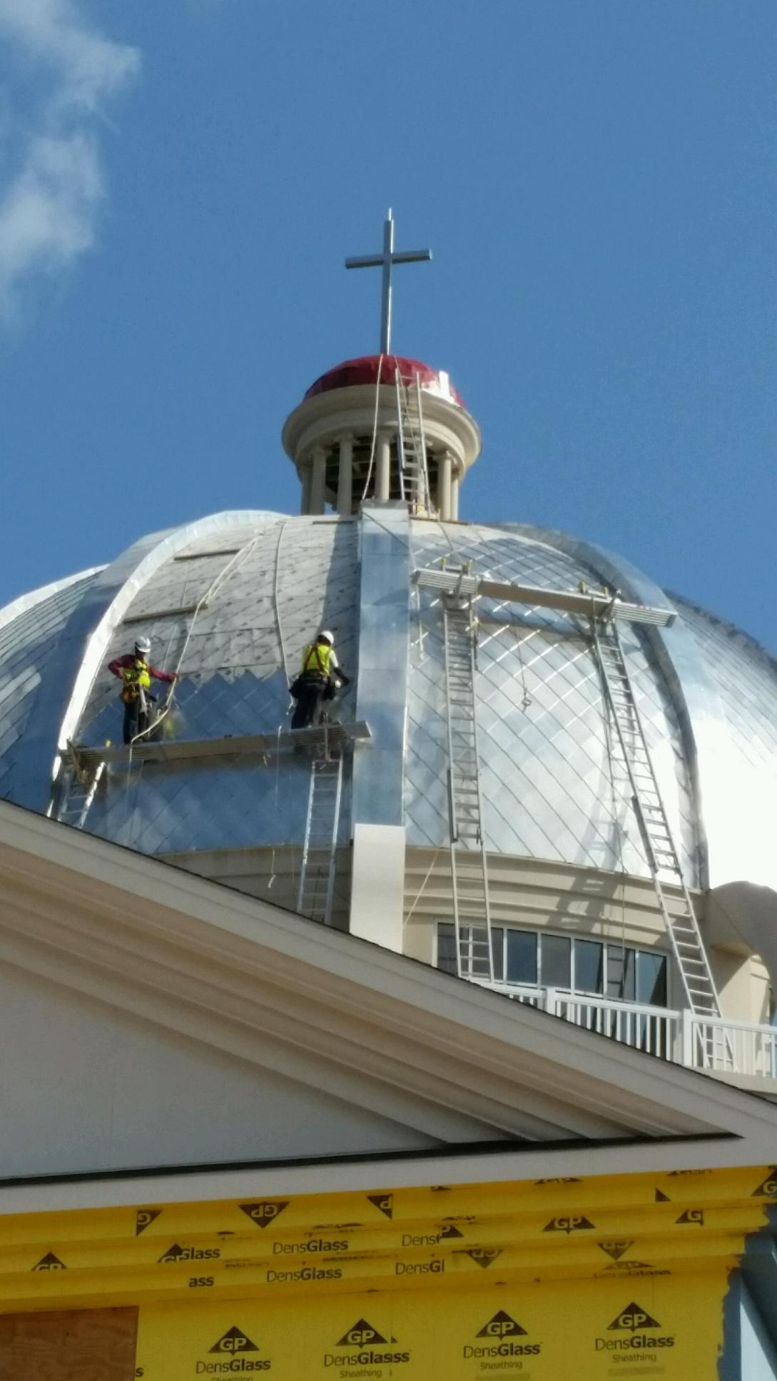 Terne Metal Shingles On A Dome Fine Metal Roof Tech