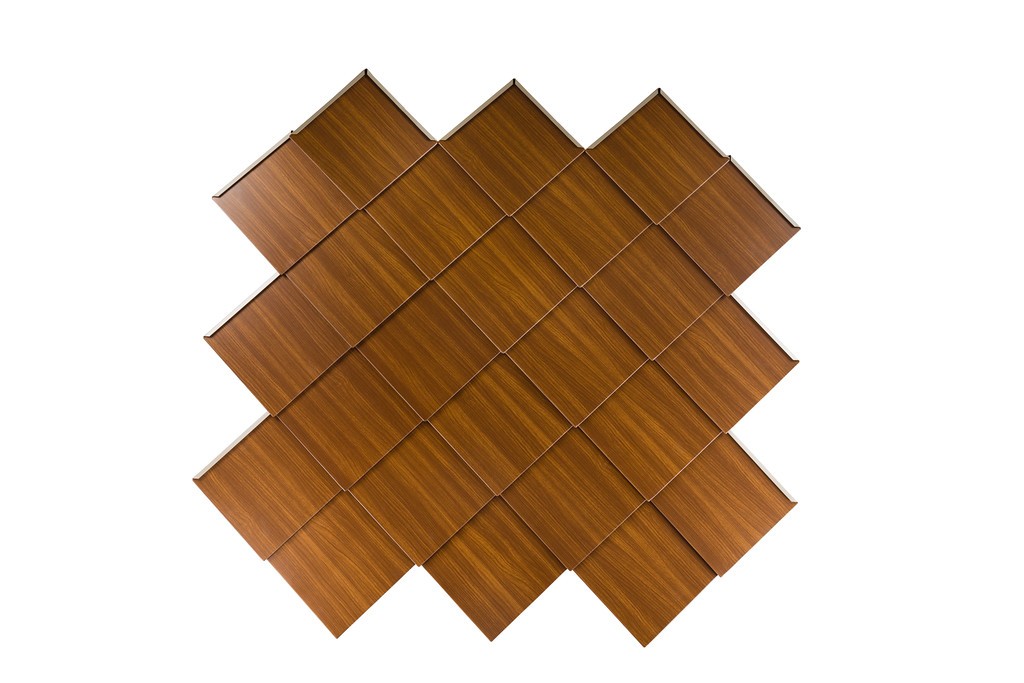 Diamond shingles in woodgrain paint Espresso