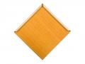 Diamond shaped metal roof shingle woodgrain paint Autumn