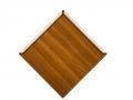 Diamond shaped metal roof shingle woodgrain paint Espresso