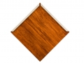Diamond shaped metal roof shingle woodgrain paint Frontier