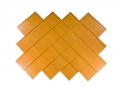 Diamond shingles in woodgrain paint Autumn