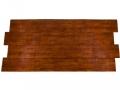 Metal roof panels in wood grain finish Frontier