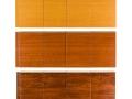 Wood grain metal roof panels