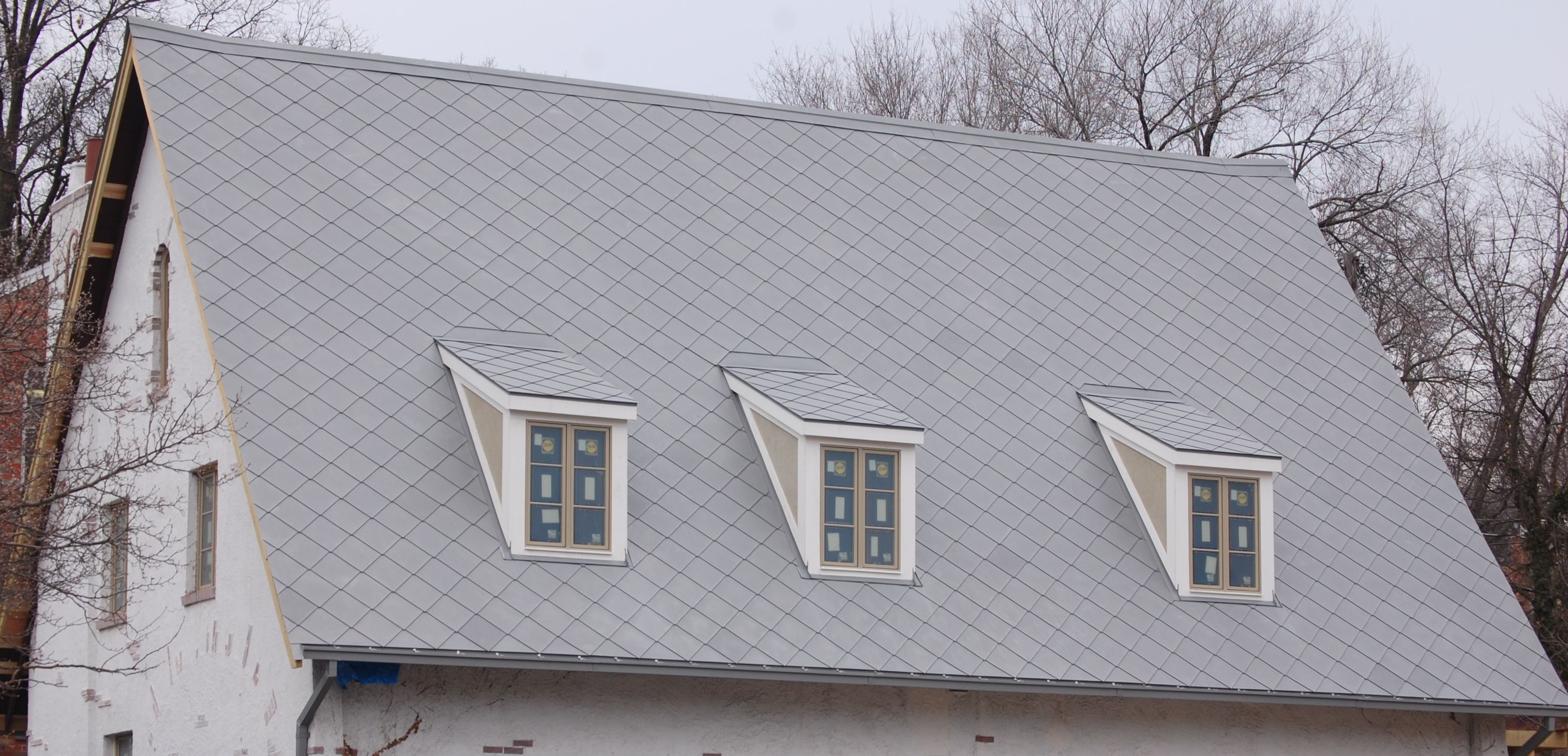 Zinc Shingle Saddle Roof Fine Metal Roof Tech