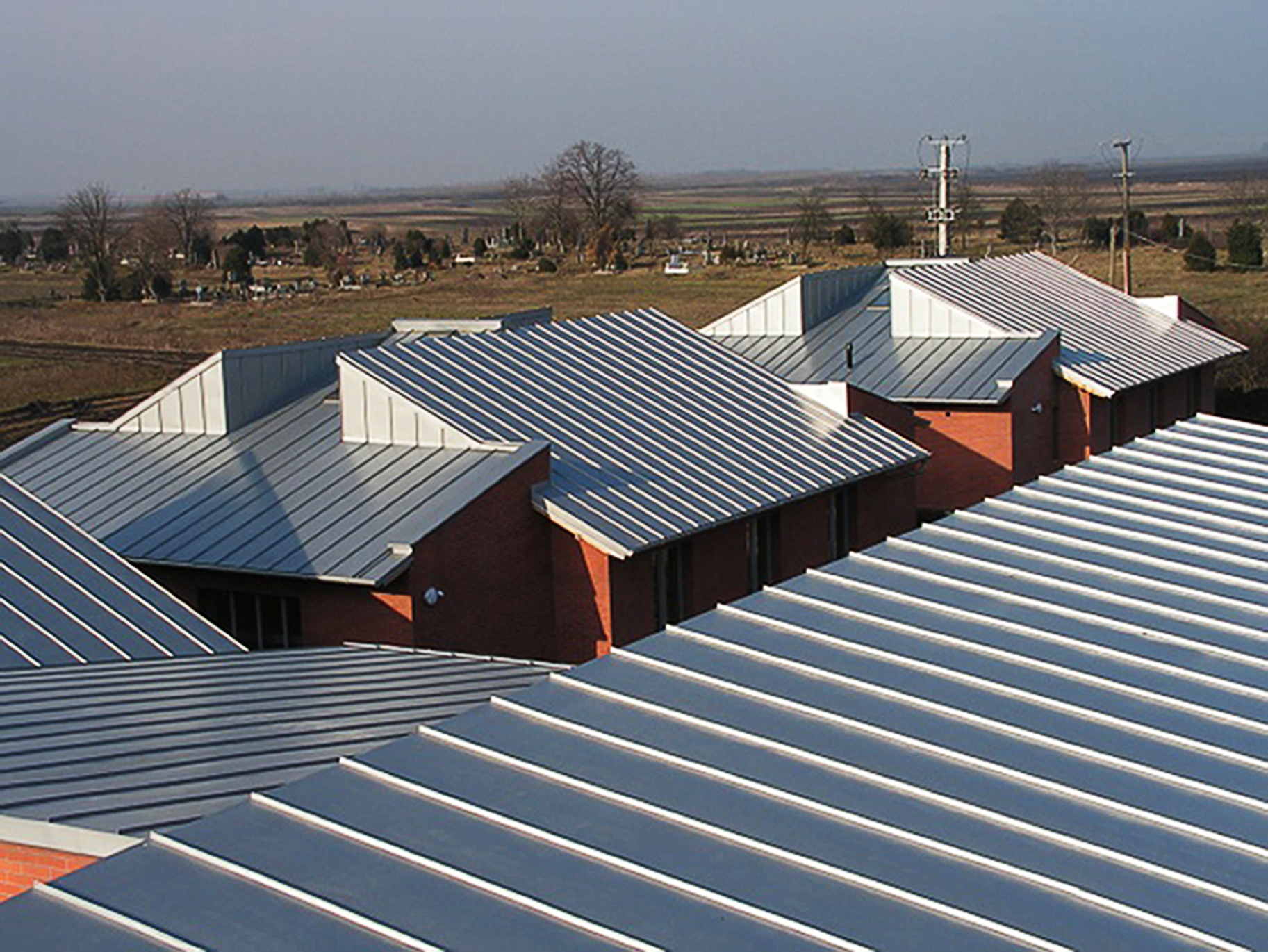 Zinc Double Locked Standing Seam Panels For Roof And Wall