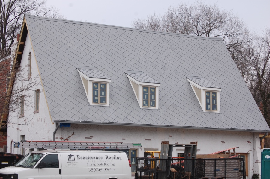 Zinc Shingle Roofing Rhomboid El Zinc Elzinc Tile Wall