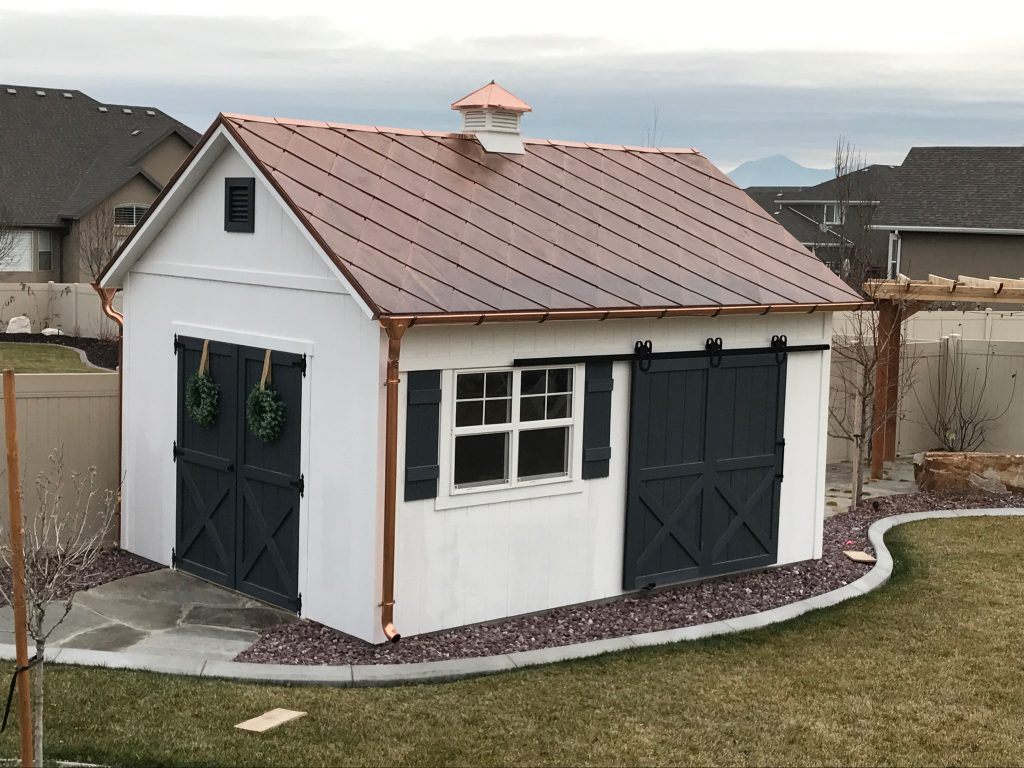 Copper Diamond Roof On A Shed Fine Metal Roof Tech
