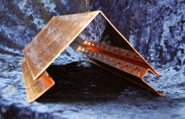 Copper Ridge Cap With Vent Holes Fine Metal Roof Tech